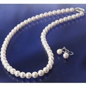 ファッション | 花珠真珠(あこや真珠) パールネックレス&パールイヤリング 7〜7.5mm玉|arinkurin