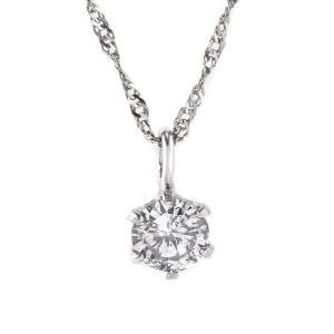 ファッション   レディース ネックレス 純プラチナ ダイヤモンド 一粒 0.1c tペンダント arinkurin