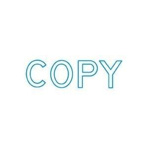 シヤチハタ Xスタンパー B型 「COPY」 藍 1個|arinkurin