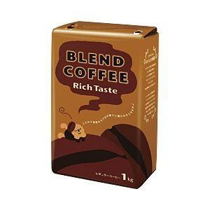 コーヒー   オフィス・デポ オリジナル ブレンドコーヒー リッチテイスト 1袋(1kg) arinkurin