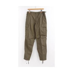 ミリタリーパンツ | アメリカ軍 BDU カーゴパンツ/迷彩服パンツ (XLサイズ) YN521007 オリーブ (レプリカ)|arinkurin