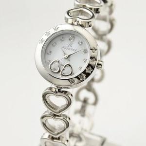 レディース(女性) | Forever(フォーエバー) 腕時計 1Pダイヤ FL12071 ホワイトシェル×シルバー|arinkurin