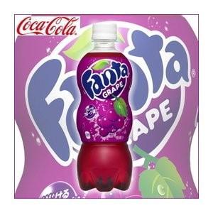 炭酸飲料 | (まとめ買い)コカ・コーラ ファンタ グレープ ペットボトル 500ml×24本(1ケース)|arinkurin