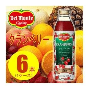 果物飲料 | (まとめ買い)デルモンテ クランベリー20% 瓶 750ml×6本(1ケース)|arinkurin
