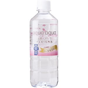 アルカリ天然水 (aqua aqua) アクア アクア 500ml・24本入りケース|arinkurin