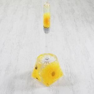 トイレ用品 | アクリル製トイレブラシトイレ掃除用具 (ひまわり柄) 造花|arinkurin