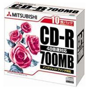 三菱化学メディア CD-R 〔700MB〕 SR80PP10...