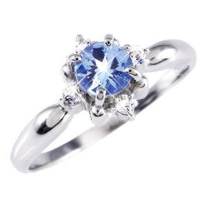 ダイヤモンド | タンザナイト&ダイヤリング 指輪 13号|arinkurin