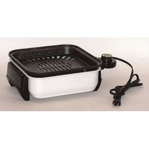 卓上コンパクトグリルホットプレート (約245×360×105mm) スチール 1200w 『ちょこちょこ焼き』 (キッチン 台所)|arinkurin