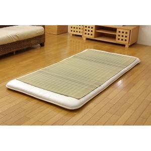 寝具 | 純国産 い草のシーツ(寝ござ) 『清風』 ブルー シングル約88×180cm|arinkurin
