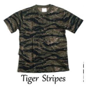 半袖Tシャツ | カモフラージュ Tシャツ( 迷彩 Tシャツ) JT048YN タイガー Mサイズ|arinkurin