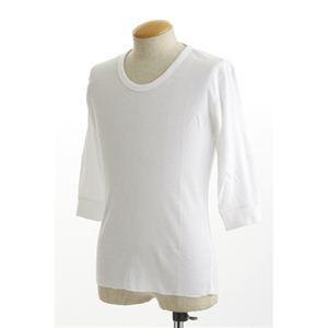 シャツ | (訳あり・在庫処分)米軍ドッグタグ付き コットンサーマルUネックシャツ 五分袖 ホワイト Lサイズ|arinkurin