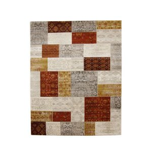 ラグマット | トルコ製 ウィルトン織り カーペット 絨毯 『キエフ RUG』 オレンジ 約80×140cm|arinkurin