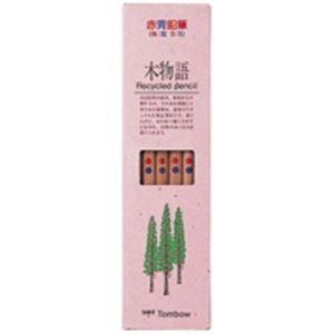 (まとめ売り×5)トンボ鉛筆 エコ鉛筆 木物語 CVREAVP 朱藍|arinkurin
