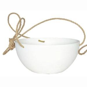 プランター | 底面給水型 植木鉢プランター (ハンギング型 ホワイト 直径25cm) 底栓付 『アートストーン』 (園芸 ガーデニング用品)|arinkurin
