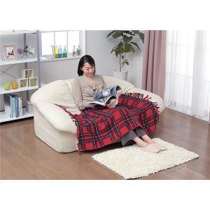 毛布 | かわいい電気ひざ掛け毛布 ダニ退治機能室温センサー付き 洗濯可 日本製 長方形 82cm×140cm レッド(赤)|arinkurin