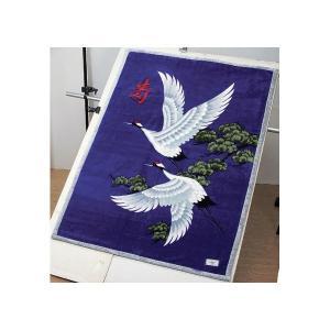 毛布 | 寿毛布 寿鶴 二枚合わせ毛布 (シングルサイズ) 日本製 (防菌防臭加工) パープル(紫)|arinkurin