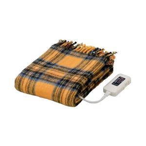 毛布 | かわいい電気ひざ掛け毛布 ダニ退治機能室温センサー付き 洗濯可 日本製 長方形 82cm×140cm イエロー(黄)|arinkurin