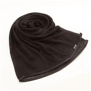 ファッション   10カラー 大型メッシュマルチスカーフ ブラック arinkurin