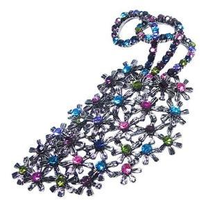 ファッション   大きなアンティーク花束ブローチマルチカラー arinkurin