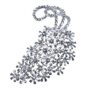 ファッション   大きなアンティーク花束ブローチクリア arinkurin