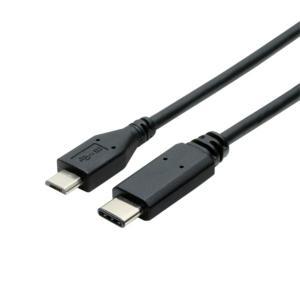 ミヨシ (MCO) USB TypeCコネクタmicroBコネクタ変換ケーブル USBCM210/BK arinkurin