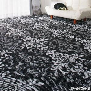 選べる撥水加工タフトカーペット/絨毯 (オーナメント柄 1: 江戸間2畳/正方形) フリーカット可 日本製 arinkurin
