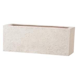 プランター | 樹脂製 植木鉢プランター (アイボリー 幅60cm) 底穴あり 新素材ポリストーンライト使用 『リガンデ プランター』|arinkurin