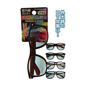 紫外線カット クリアレンズファッション用グラス (12個セット) 29616|arinkurin