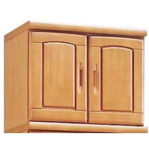 収納家具   上置き(シューズボックス用棚) 幅60cm 木製 扉棚板付き 日本製 ナチュラル (Horizon3)ホライゾン3 (完成品) arinkurin