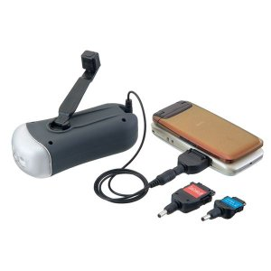 ラジオ | ダイナモ式充電器FMラジオ (LEDライト) 乾電池不要 携帯電話充電機能付き (キャンプ アウトドア バーベキュー 災害時)|arinkurin