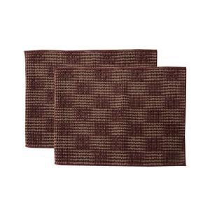 バスマット | バスマット フロアマット 洗える 吸水 マイクロファイバー 『さらり美人2』 ブラウン 2枚組 約45×60cm|arinkurin