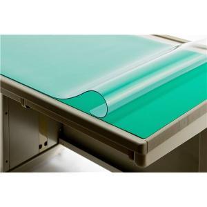 デスクマット デスクマット 文具 オフィス用品 グリーンがかった透明と、平滑性を誇るシンプルデスクシ...