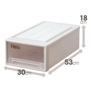 収納用品 | クローゼット収納衣装ケース (幅30cm×高さ18cm) スリム 『Fits フィッツケース』 日本製|arinkurin