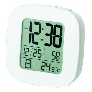 置き時計・壁掛け時計   ADESSO(アデッソ) 目覚まし電波時計 ホワイト TK-59W