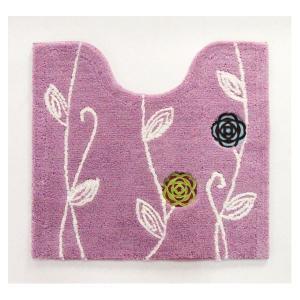 トイレ用品   北欧調 トイレマットトイレ用品 (57×62cm ピンク) レギュラーサイズ 洗える 裏面すべり止め加工 『エトフ』 arinkurin