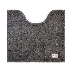 トイレ用品 | 銀イオン加工 トイレマットトイレ用品 (グレー) 55×60cm 洗える 抗菌・防臭・消臭効果 『カラーモード プレミアム』|arinkurin
