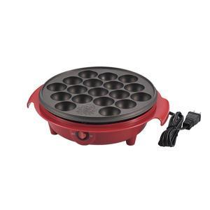 電気 たこ焼き器調理家電 (18穴 レッド) 日本製 箱入り (キッチン 台所 リビング)|arinkurin
