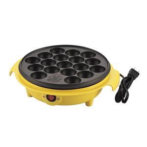 電気 たこ焼き器調理家電 (18穴 イエロー) 日本製 箱入り (キッチン 台所 リビング)|arinkurin