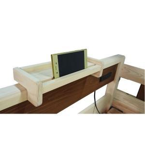 ベッド・ソファベッド : 2段ベッド用棚/宮棚 ナチュラル 〔幅29cm×奥行10cm〕 木製 国産ヒノキ材 日本製 『COCO』〔代引不可〕の写真