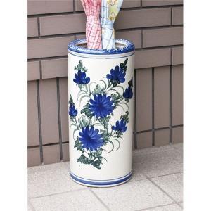 傘たて | ハンドメイド陶器傘立て青花|arinkurin
