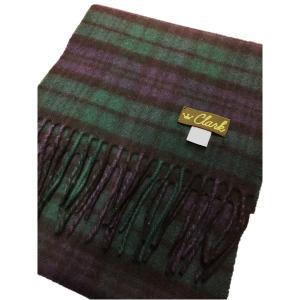 ファッション   英国製 100%CASHMERE タータンマフラー ブラックウォッチ arinkurin