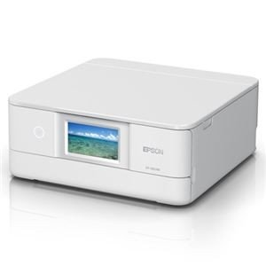 プリンター | エプソン A4インクジェットプリンターカラリオ多機能6色有線・無線LANWiFiDirect両面4.3型ワイドタッチパネルホワイト|arinkurin
