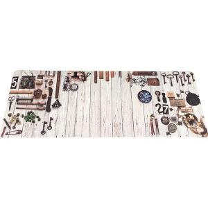 キッチンマット | キッチンマット キッチン マット 台所 拭ける 塩化ビニール ティンバー 50×80cm 九装|arinkurin