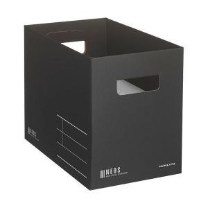 ファイルボックス |  コクヨ 収納ボックス(NEOS)Mサイズ ブラック A4NEMBD 1個 (...