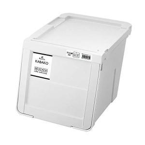 収納用品 | 収納ボックス収納ケース (ホワイト スリムMサイズ) 幅30cm 日本製 スタッキング可 フタ付き 『天馬 プロフィックス カバコ』|arinkurin