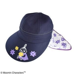 レディース帽子 | (保育士さん)ムーミン 3WAYつば広帽子 (フラワーパープル)|arinkurin