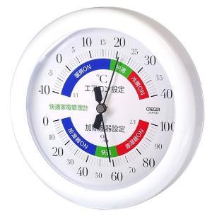 健康器具 | クレセル 温湿度計(快適家電管理表示) 壁掛け・卓上用スタンド付き ホワイト TR130W|arinkurin