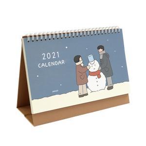 オフィス用カレンダー   indigo(インディゴ) 2021年季節のイラスト卓上カレンダー arinkurin