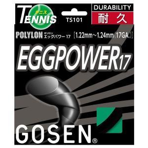 テニス用品 | GOSEN(ゴーセン) エッグパワー17 ブラック TS101BK
